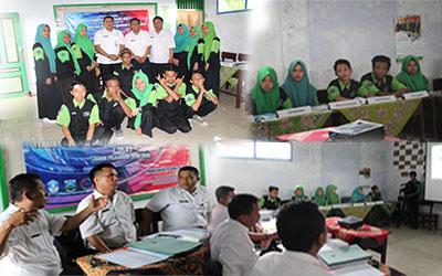Sekolah Menengah Kejuruan (SMK) Al Falah Leces melakukan uji kompetensi kejuruan (UKK).