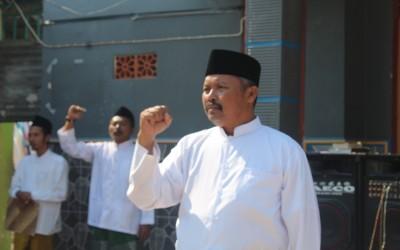 Ketua Pembina LKSA Al Falah,Sukardi menjadi Pembina  Upacara di Hari Santri Nasional ke 5 tahun 2019